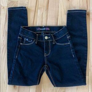 Girls Slim size 7 super skinny dark blue jeans